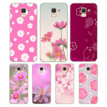 Silicone Case Cute flowers art Printing for Samsung Galaxy j8 j7 j6 j5 j4 j3 Plus Prime 2018 2017 2016 Cover