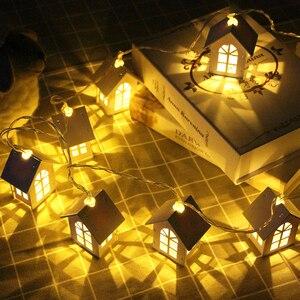 Image 5 - 10/20 led البيت نمط الجنية أضواء عيد الميلاد جارلاند السنة الجديدة led زينة لحفلات المنازل الجنية سلسلة ضوء بطارية تعمل