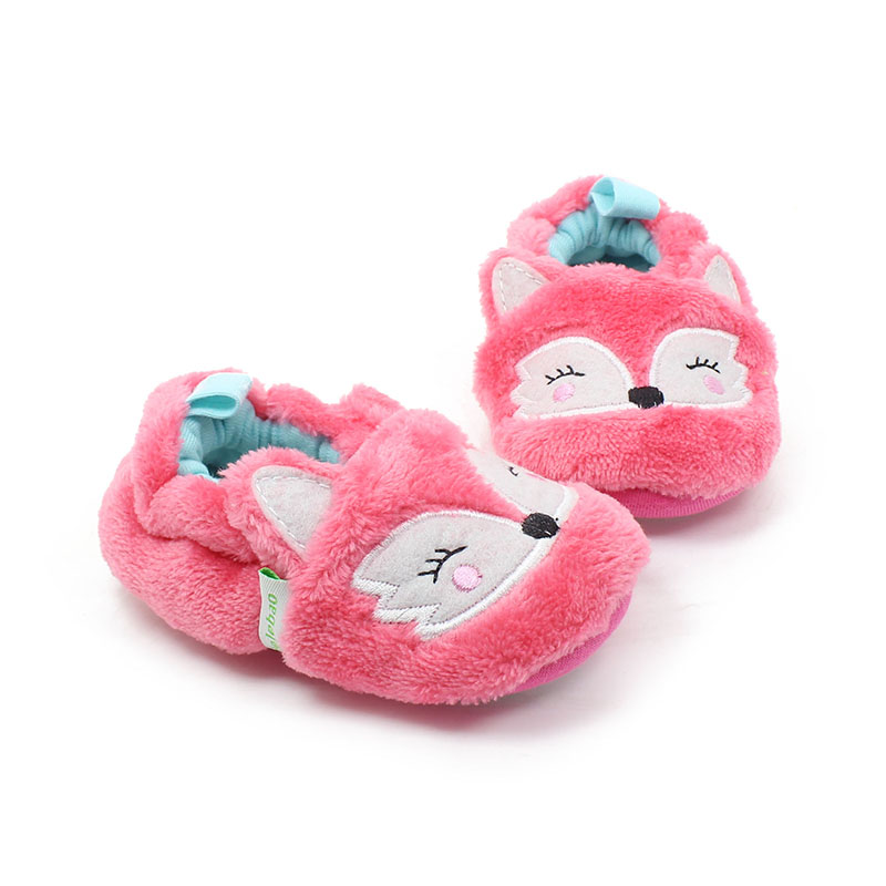 Delebao New Design Schöne Pink Fox Muster Slip-on Gummisohle Unisex - Babyschuhe - Foto 2