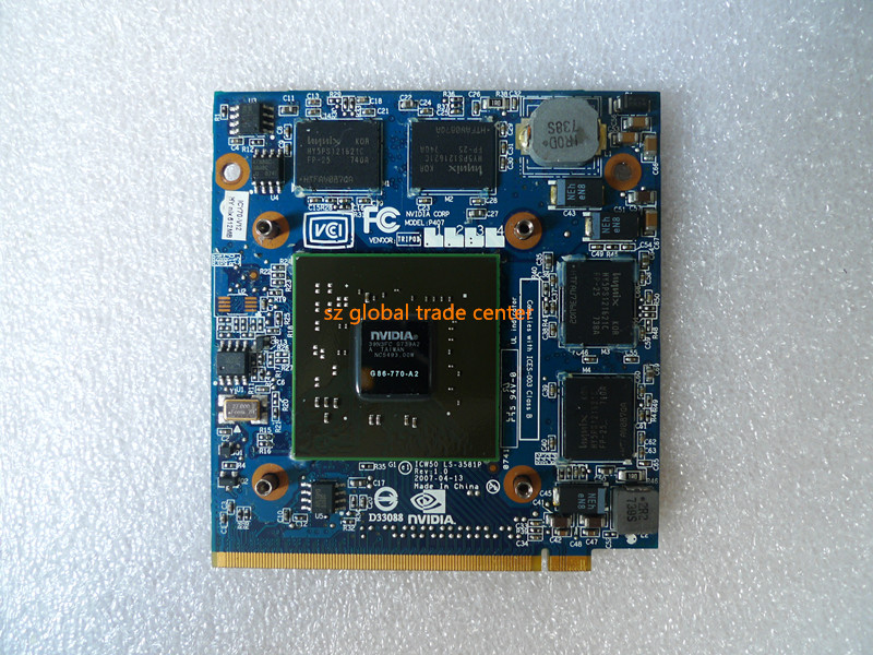 nVidia Graphics VGA Card GeForce 8600 8600M GS 8600MGS MXM II <font><b>DDR2</b></font> 512MB G86-770-A2 for Acer 4520 5520G 5920G 7720G 6930G Laptop image