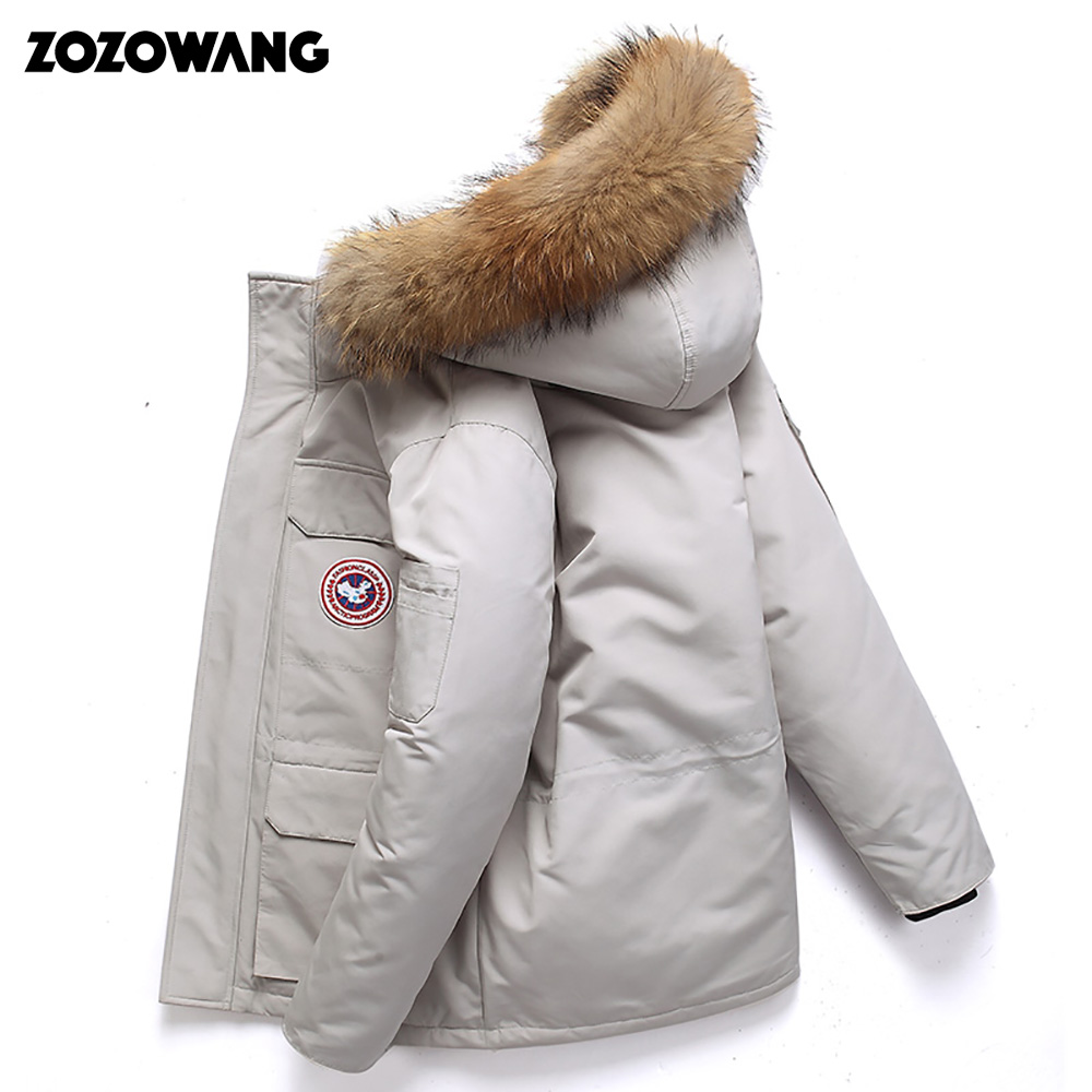 Image 2 - High Quality  40Celsius Down Jacket Keep Warm Men's Winter Thick Snow Parka Overcoat Camouflage White Black Duck 2019New Fashion-in Down Jackets from Men's Clothing