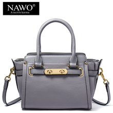 NAWO Cow Genuine Leather Trapeze Women Shoulder Bags Small Sequined Bags Female Bags Handbags Women Famous
