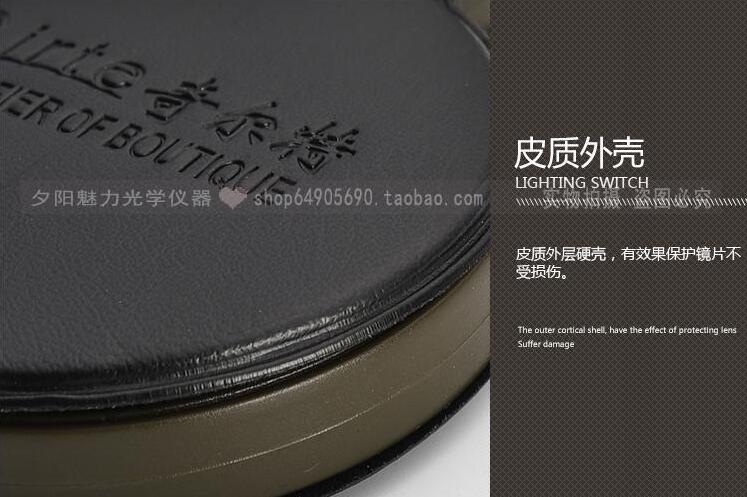 3x55mm Dobrável Lupa Lupa de Bolso para Leitura