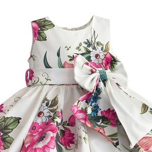 Image 3 - Bebek kız prenses elbise çiçek baskı düğün parti elbiseler çocuk giysileri robe fille vetement enfant fille 2 7T