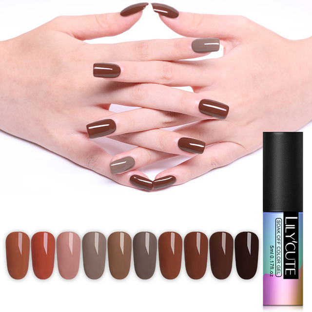 LILYCUTE 5ml Pure Colors UV Nail Gel Polish