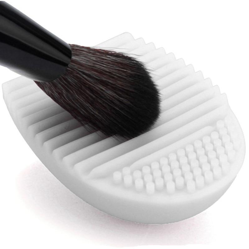1 darab kefe tojástisztító smink mosó kefe 5 színben szilikon kesztyű súrolóasztal kozmetikai alapozó portisztító eszközök