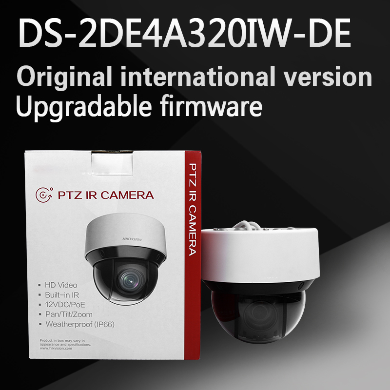 free shipping english version DS-2DE4A320IW-DE 3MP Network IR mini PTZ Camera 3D intelligent positioning function fuel cell application composite electrodes
