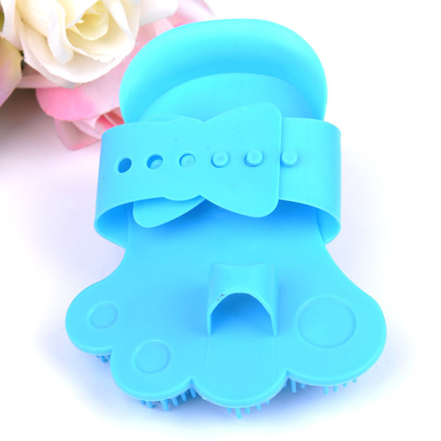 1PC GOUGU Cat Dog Soft Rubber Massage Gloves Pet Cleaning Bath Removal Brush Comb Shampoo Grooming Tools 2