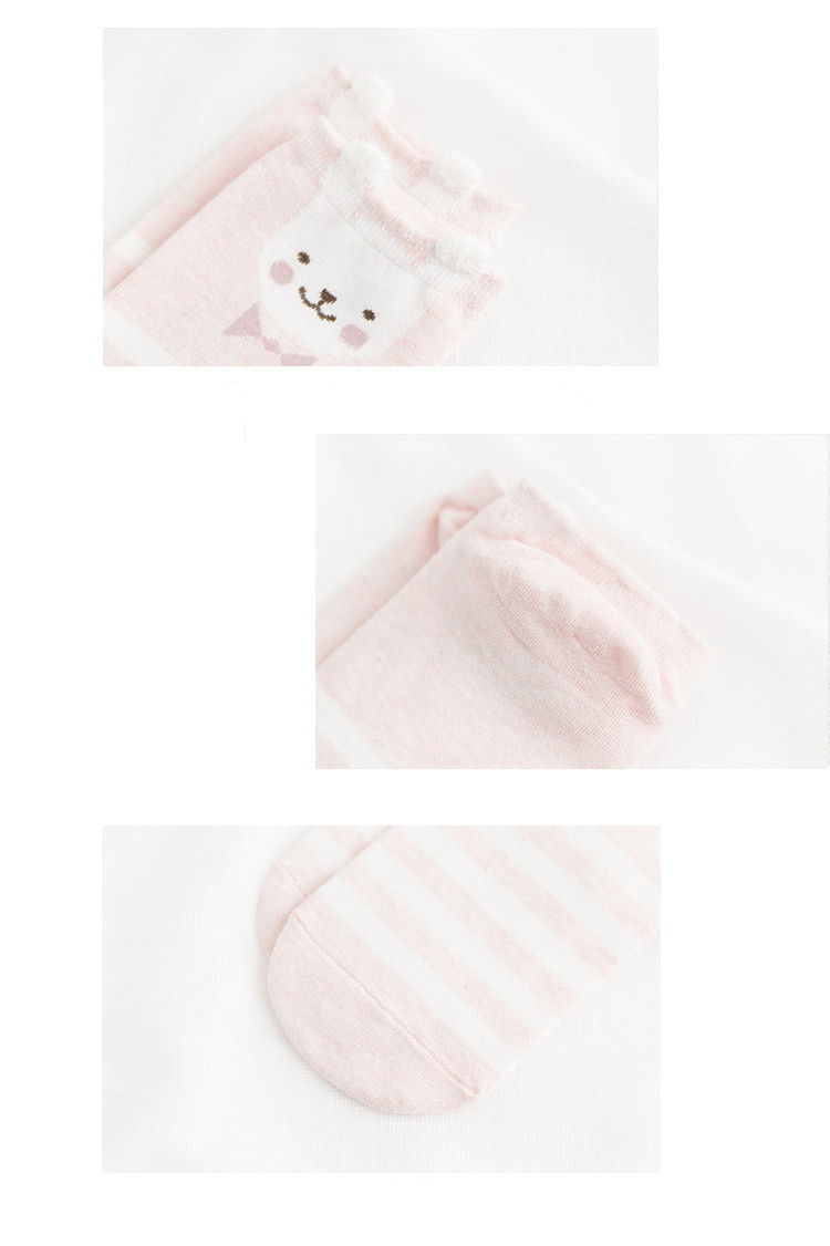 HTB1MwewFWmWBuNjy1Xaq6xCbXXaS - 5Pairs New Arrivl Women Cotton Socks Pink Cute Cat Ankle Socks Short Women Socks Casual Animal Ear Red Heart Gril Socks 35-40
