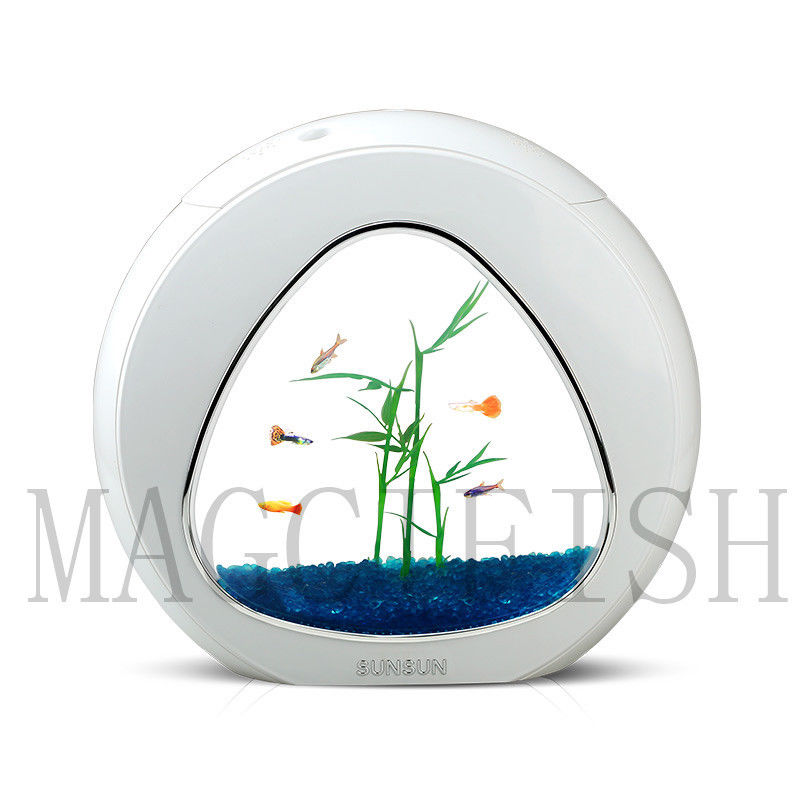 Colorful Mini Ecology Fish Tank Integration Filter Mini Nano Tank Office Coffee Table Aquarium 4 L