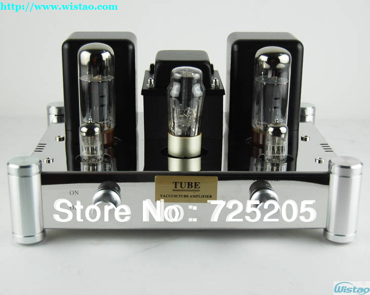 HIFI Single-ended Pure Class A Tube Amplifier 6N2J Preamp  EL34 Power Amp 5Z4PJ Rectifier Mirror Stainless Steel Chassis Silver boyun hifi el34 valve tube amplifier 2 0 channel stereo single ended class a amp 12w 2 finished product 110 240v