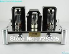 Terminación Única HIFI Clase A Puro Tubo Amplificador 6N2J Preamp EL34 Power Amp 5Z4PJ Rectificador Espejo Acero Inoxidable Chasis plata