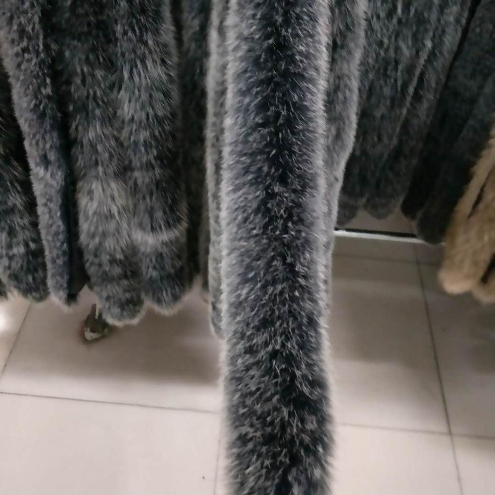 Natural Color Silver Fox Trimming / Silver Fox For Collar / Fox Fur Trim
