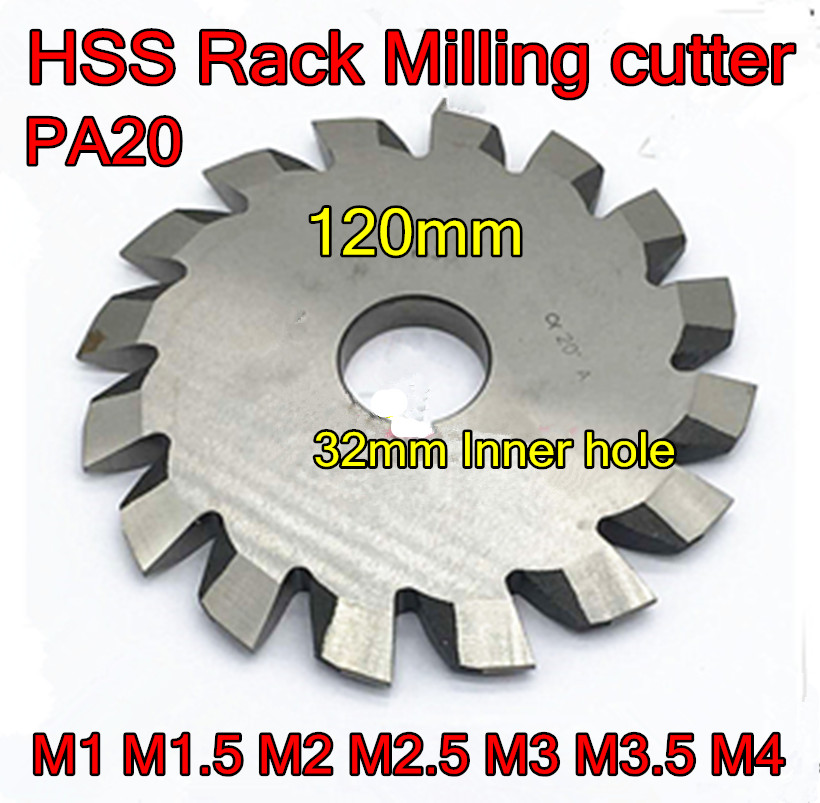 110-120*32mm Inner Hole M1 M1.5 M2 M2.5 M3 M3.5 M4 PA20 HSS Rack Milling Cutter Article Gear Milling Cutter Free Shipping