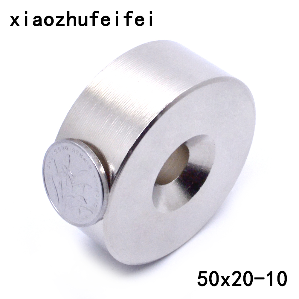 Whosale magnet 50*20mm with hole Strong Block 1 Countersunk Hole Rare Earth Neodymium Magnet 50mm x 20mm 80x60x7 block magnet 80x60x17mm with hole magnet n48 magnet permanet block powerfull magnet free shipping