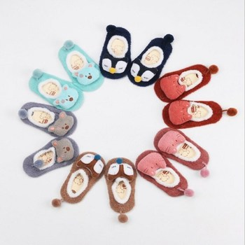 Newborn Spring Autumn Fox Socks Coral Fleece Cute Sokken Cartoon Meias Soft Animal Patter Baby Boy Socks Baby Girl Socks 1