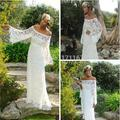 2016 Elegant Robe Backless Casamento Bridal Gown Lace Long Sleeve Wedding Dress Bohemian Bride Vestidos De Novia 1649