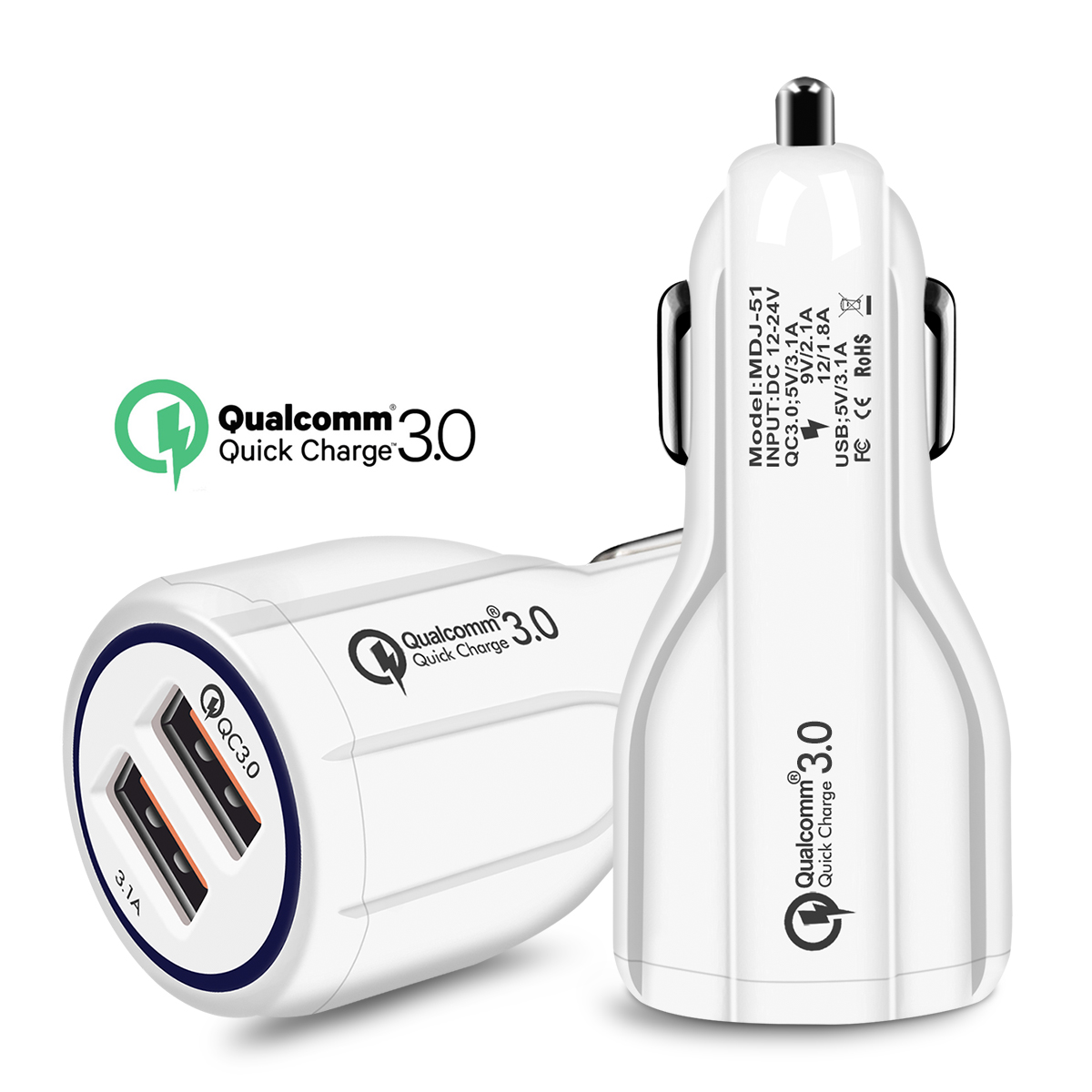 HTB1Mwfdg1OSBuNjy0Fdq6zDnVXaU - Quick Charge 3.0 Car Charger For Mobile Phone Dual Usb Car Charger Qualcomm Qc 3.0 Fast Charging Adapter Mini Usb Car Charger