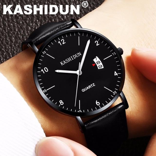 Hombre Los Relojes Simple Pulsera Dial Mujeres Pequeño Relogio Delgado Amor Y Amantes Hombres Kashidun De Fino Reloj En 2018 Moda CodrxBe