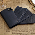Mens Card Holder Business Wallet Large Credit Card Holders Card Purse 3 Folding Can expand and fold Porte Carte Portomonee