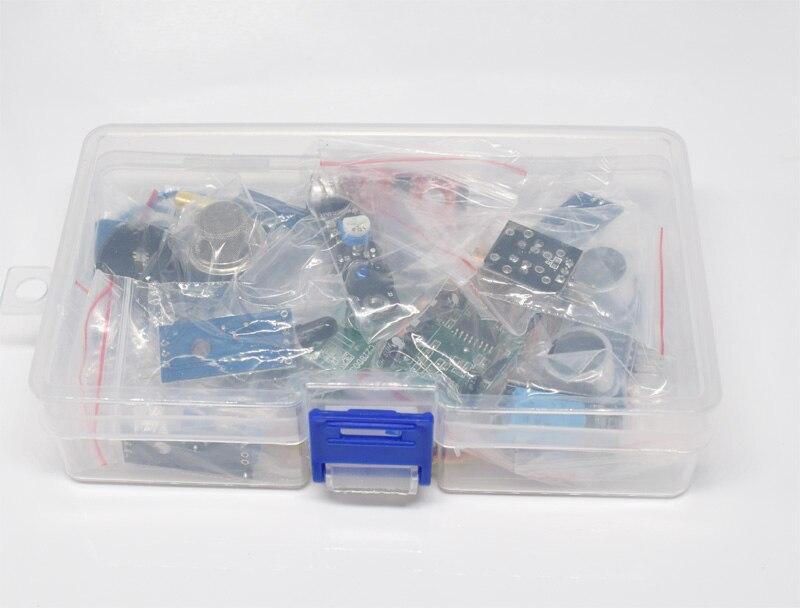Avec la Boîte Au Détail 16 pcs/lot Raspberry Pi 3 et Raspberry Pi 2 Modèle B le capteur module paquet 16 sortes de capteur