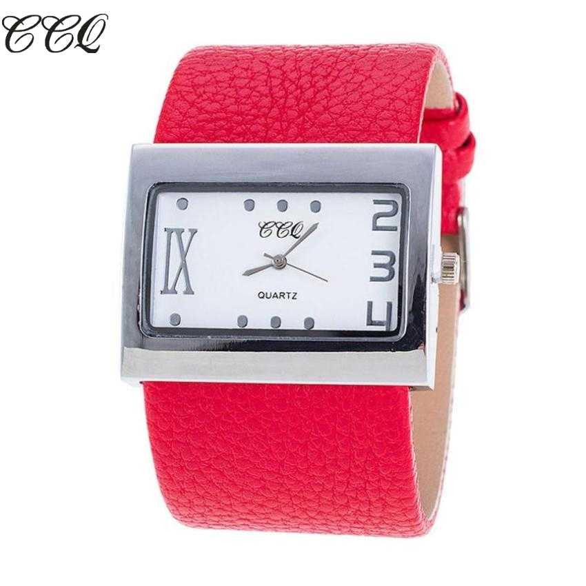 72119e47113 CCQ Лидирующий бренд кожа часы 2019 для мужчин женщин Аналоговые Кварцевые  Наручные montre femme relogio masculino