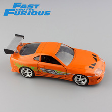 1:32 Scale Brian's 1995 TOYOTA SUPRA FAST AND FURIOUS metal diecast race model mini collection street race cars toys for kids