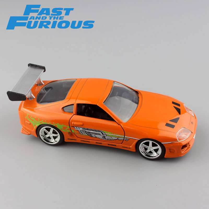 Scala 1:32 da Brian 1995 TOYOTA SUPRA FAST AND FURIOUS metallo modellino race modello mini collezione strada auto da corsa giocattoli per bambini