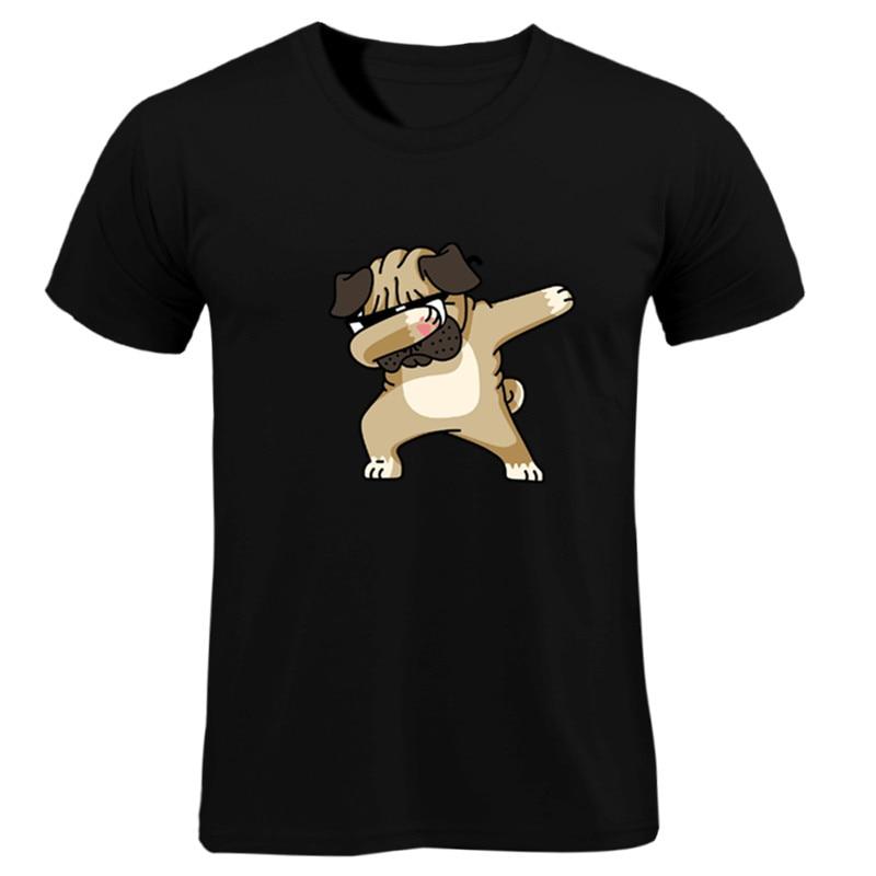 2019 New T-Shirts Men's  Summer Short Sleeves 100%cotton White T Shirt Men Fashion 3D Printed Dog Casual Brand Tee Shirt Men