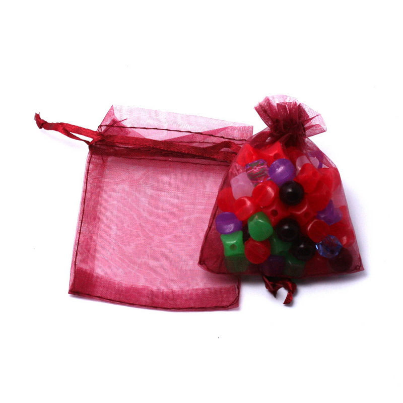 30pcs/lot 7x9cm 9x12cm 10x15cm 13x18cm Drawstring Organza Pouches Jewelry Packaging Bags Wedding Party Gift Bag Jewelry Pouch 3