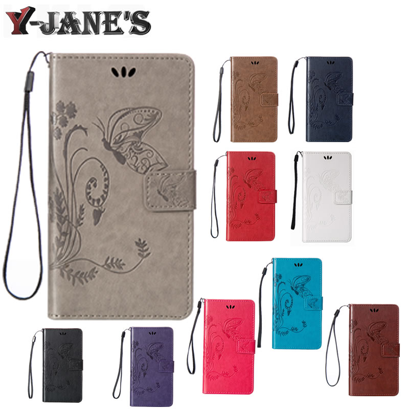 L70 Case Butterfly Printing Book Style Wallet Flip Leather Case Cover for LG L70 D325 D320 with Card Holder Stand