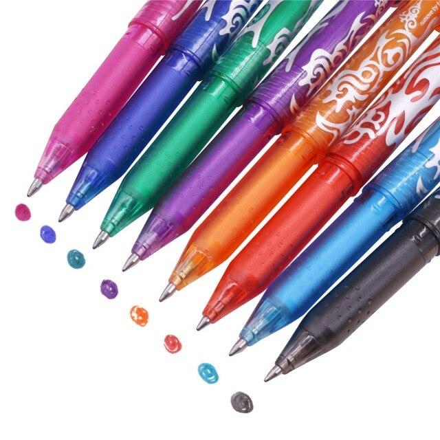 Stylo ou recharges à bille effaçable, 80 pièces, stylo à bille, encre de couleur, 0.5mm, stylo Gel à base deau, papeterie