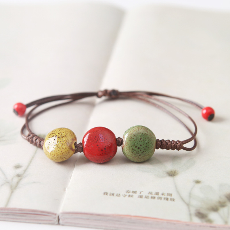 ALI shop ...  ... 32825596256 ... 4 ... H:HYDE New Handmade Weave Rope Bracelet For Women 4 Styles Ceramic Bracelets Vintage Ethnic Jewelry Creative Gift ...