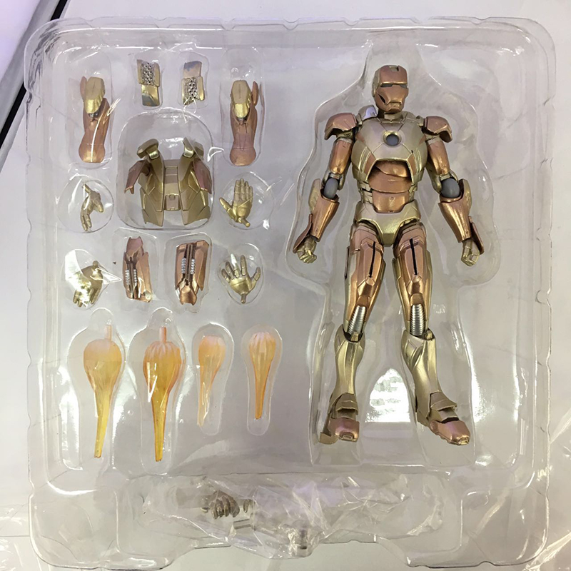 цена C&F Iron Man Anime Action Figure Toys Super Hero Anthony Edward Stark Tony Assembling PVC Figures Toys For Gifts онлайн в 2017 году