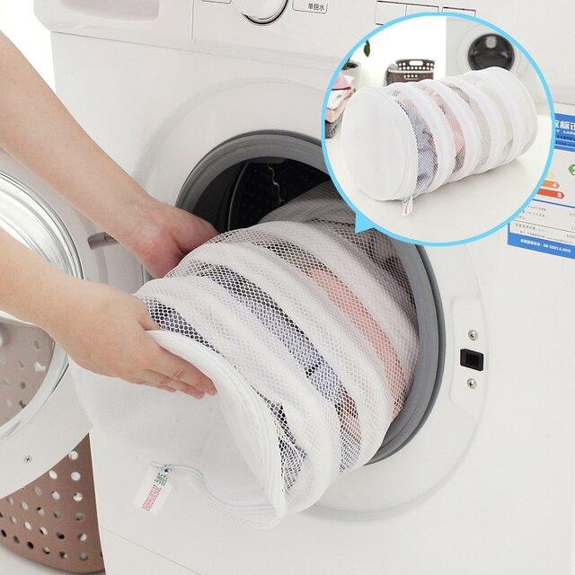 Engrossar Malha Fina Saco de Roupa de Impressão de grande capacidade Dupla Camada de Lavagem de Cuidados Underwear Bra Saco de Roupa Pequena Cesta de Lavagem