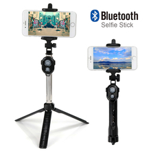 Foldable Perche Selfie Monopod Universal Selfie Stick Bluetooth With Button For Android iPhone Tripod Pau De Palo Selfie
