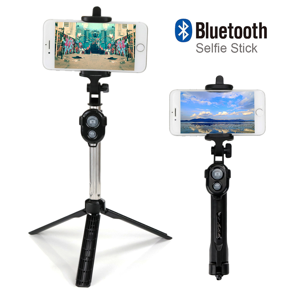 Pieghevole Perche Selfie Monopiede Selfie Stick Bluetooth Con Il Tasto Universale Per Android iPhone Tripod Pau De Palo Selfie