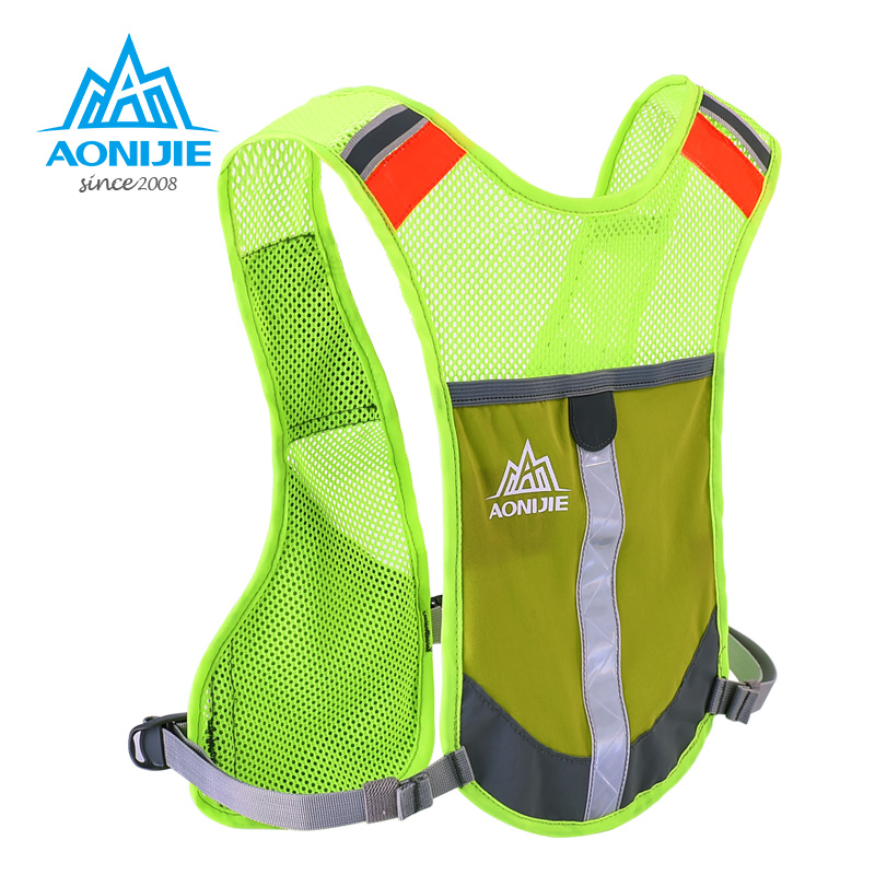AONIJIE Reflective Hydration Pack Backpack Rucksack Bag Vest Harness Water Bottle Hiking Marathon Outdoor Camping Running  Race