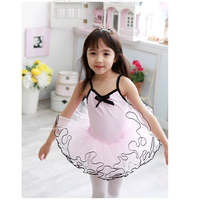 Girls Ballet Tutu Sling Long Sleeve Two Styles Leotard Practice Clothes Dress Kids Ballet Tutu High