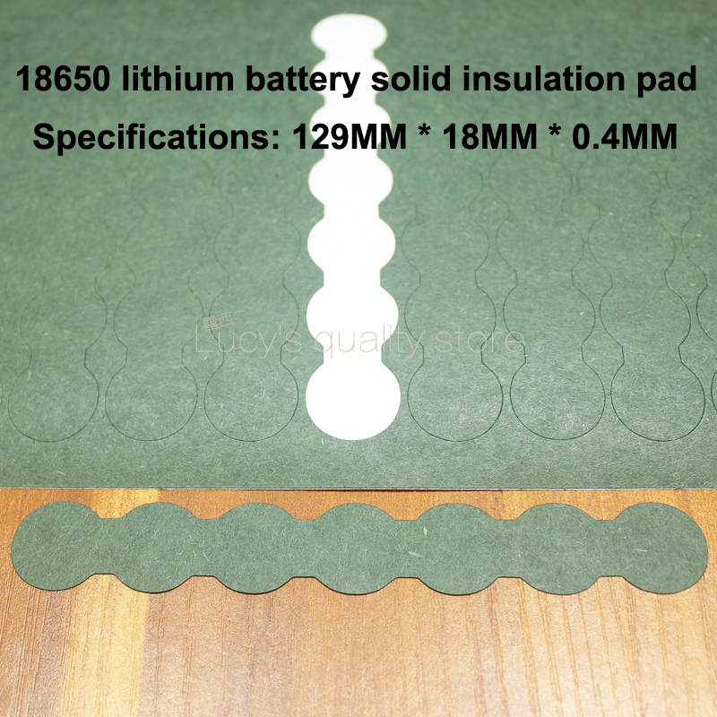 100pcs/lot Battery Accessories 18650 Cathode Solid Insulation Pads 7s Youth Indigo Shell Mattress Meson Diy Fittings