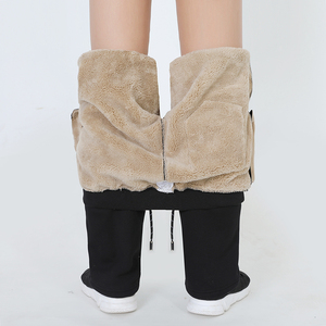 Image 2 - Mens Winter Plus Cashmere Velvet Thicken Pants Men Warm Trousers Mens Sweatpants Brand Clothing Male Elastic Waist Trousers 666
