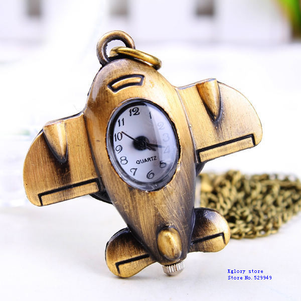 Free shipping new 2013 hot selling quartz watch pocket watch vintage box watch items the hours  plane airlines model Keychain