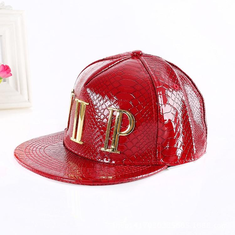 8c60f7bc6970f VIP Snapback Caps Baseball Cap hiphop Faux Leather Snakeskin Hats Men Flat  Brimmed Caps Men and Women