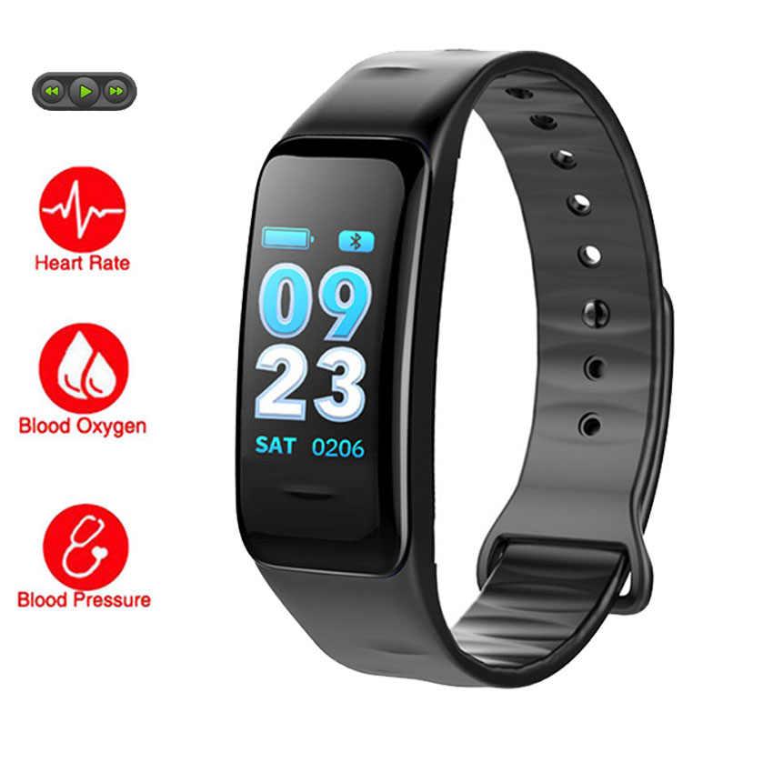639a42db684 Música remoto Bluetooth Relógio Inteligente Pulseira de Fitness Saúde  Smartwatch Para IOS App GPS Montre Conectar