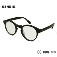 ESNBIE Designer New Clear Eye Glasses Round Round Eyeglasses Frames Men Myopia Vintage Optical Glasses Frame