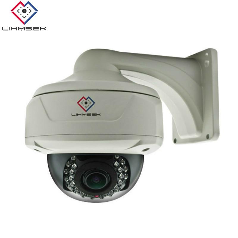 US $98 71 19% OFF Lihmsek External Rainproof IP Fisheye Camera H 265 5MP  4MP 3MP Network CCTV Camera 130 180 360 degree Wide Angle Lens Video cam  -in