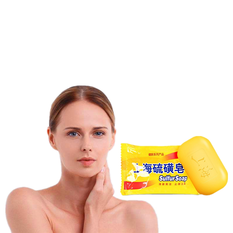 Bacteria Removing Soap Anti Bacterial Mites Acne Rosacea Oil Control Antibacterial Sulfur Soap Cleanser 85g
