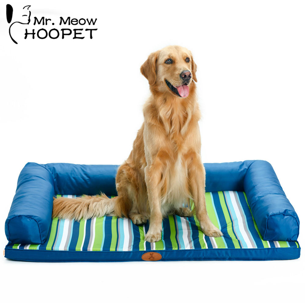 Hoopet Dog Mat Pet Summer Mat Cooling Large Dog Bed Cushion Stripe Sleeping Pad