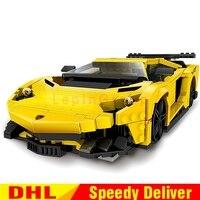 XingBao Block 03008 Creative MOC Technic Series The Yellow Flash Racing Car Set Building Blocks Bricks LPing Toys Clone Lepinges