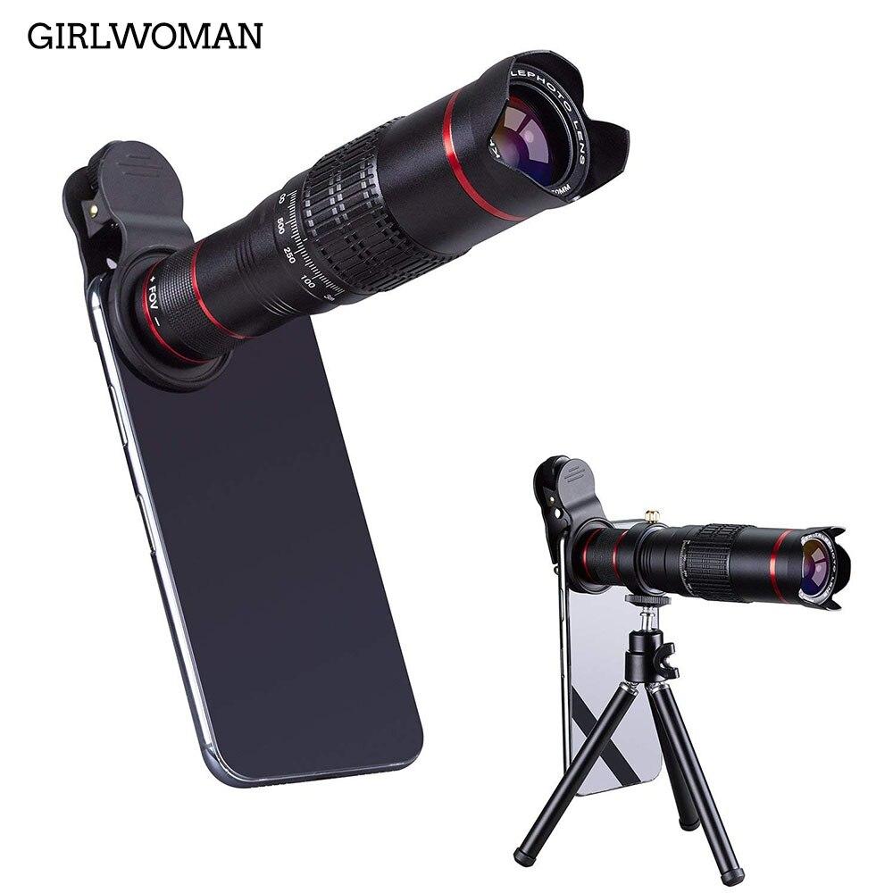 Girlwoman Mobile Objectif 22x Téléphone Objectif De la Caméra Double Règlement Téléphone Lentille Attchment avec Trépied pour iPhoneX/8 pour Samsung huawei